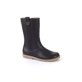 Froddo Black Leather Fully Waterproof & Wool Lined Boots