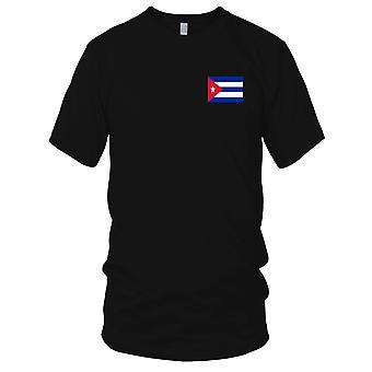 Cuba Cuban Country National Flag - Embroidered Logo - 100% Cotton T-Shirt Kids T Shirt