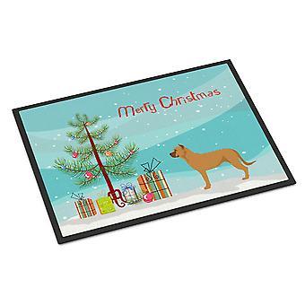 Alano Espanol Spanish Bulldog Christmas Indoor or Outdoor Mat 18x27