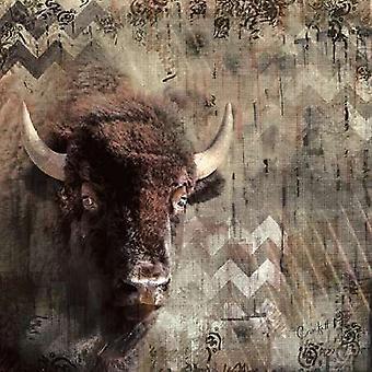 Call of the Buffalo Poster Print by Crockett (12 x 12)