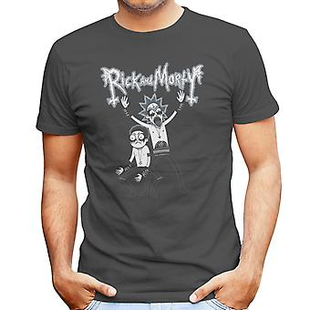 Black Metal Rick And Morty Men's T-Shirt