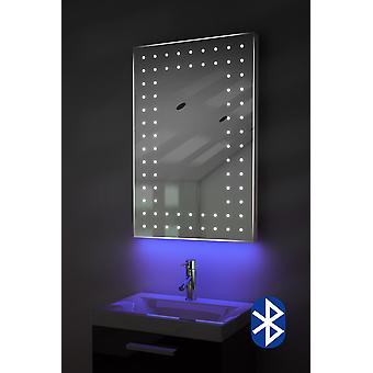 Shaver Mirror with UnderLighting, Bluetooth, Demist & Sensor k43saud