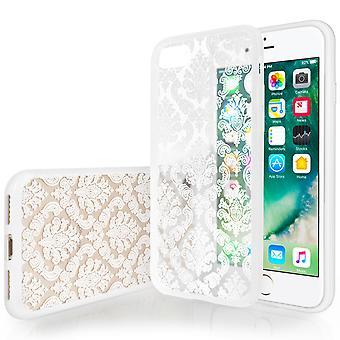 Yousave tillbehör Iphone 7 hårda fallet - damast vit