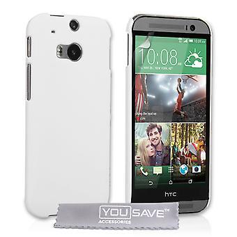 HTC One M8 Hard Hybrid Case - biały