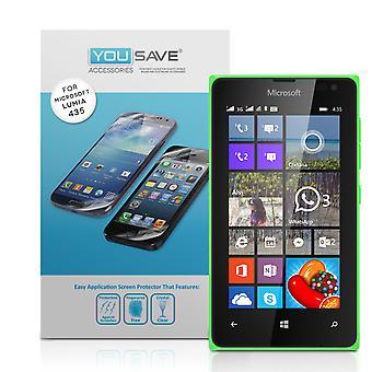 Yousave Microsoft Lumia 435 Screen Protectors - 3 Pack