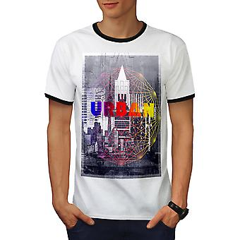 Urban Stylish Men White / BlackRinger T-shirt | Wellcoda