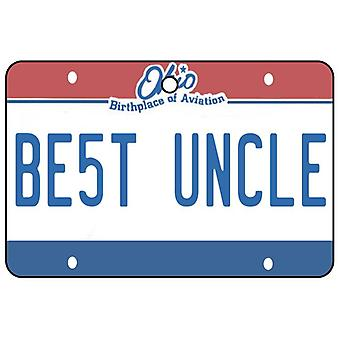 Ohio - Best Uncle License Plate Car Air Freshener
