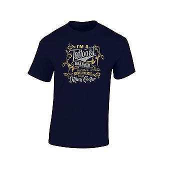 I'm a Tattooed Grandad Except Much Cooler Gold/Silver Edition Mens T-Shirt 10 Colours (S-3XL) by swagwear