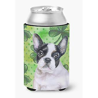 French Bulldog Black White St Patrick's Can or Bottle Hugger
