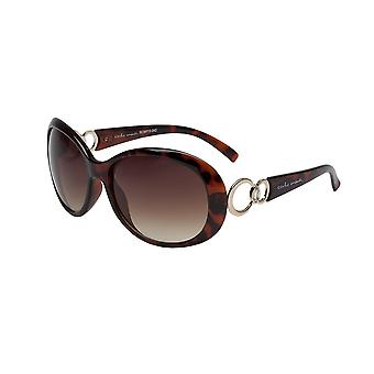 Elegant sunglasses for women by Carlo Monti with 100% UV protection | solid polycarbonate frame, high quality sunglasses case, microfiber glasses pouch and 2 years warranty | SCM112-242 Latina