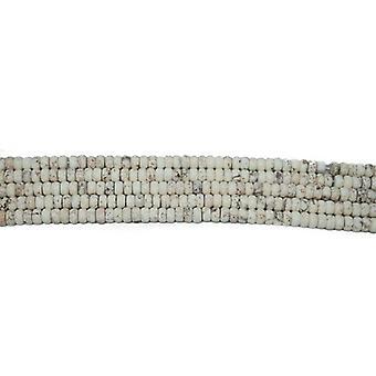 Strand 75 + biały magnezytu 5 x 8mm matowe zwykły Rondelle koraliki CB37508