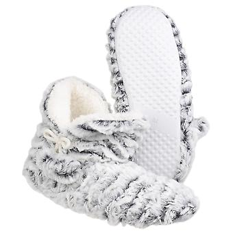 Divaz Womens/Ladies Paris Pull On Faux Fur Warm Lined Slipper Boots