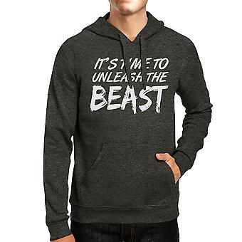 Unleash Beast Unisex Cool Grey Pullover Hoodie Workout Gift Hoodie