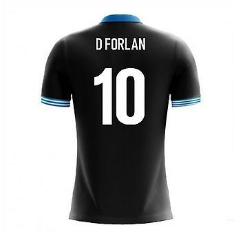 2018-19 Уругвай Airo концепции Выездная футболка (Форлан 10 D)