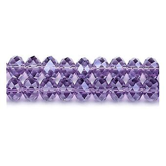 Strand 90+  Violet Czech Crystal Glass 4 x 6mm Faceted Rondelle Beads GC3537-2