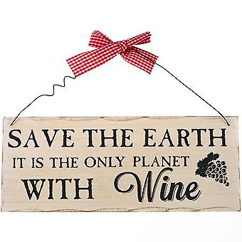 Something Different Save the Earth Hanging Sign