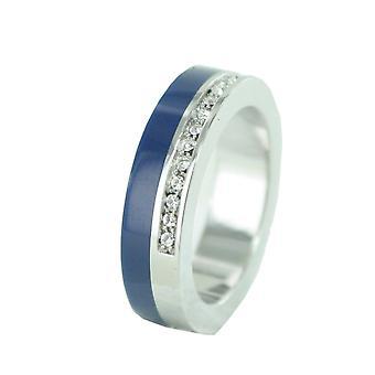 Femmes ESPRIT anneau inox Marin 68 glam silver / noir bleu ESRG11565C