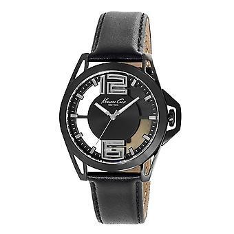 Kenneth Cole New York men's wrist watch analog quartz leather KC10022526