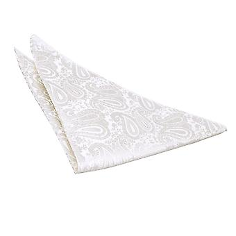 Ivory Paisley Pocket Square