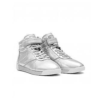 Michael Kors Addie Metallic Leather High Top Trainers