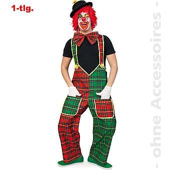 Hombres de traje de payaso de cuadros pantalón traje de los hombres de pantalones Clownkostüm