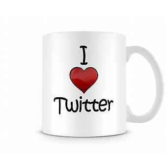 Twitter imprimé J'aime la tasse
