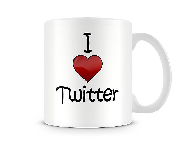 I Love Twitter Printed Mug
