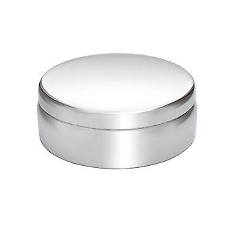 6Cm Plain Round Pewter Trinket Box