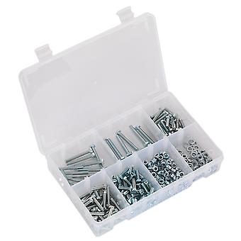 Sealey Ab049Snw Setscrew, Nut & Washer Assortment 444Pc High Tensile M5 Metric