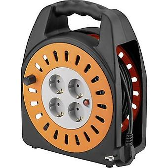 Goobay 71355 Cable reel 25 m Black PG right-angle plug