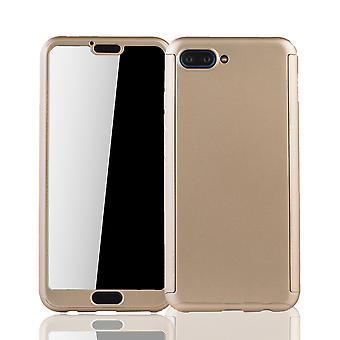 Huawei honor 10 mobila fall skydd-fall full cover tank skydd glas guld