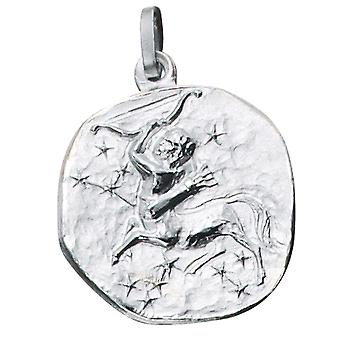 Pendant star sign of SAGITTARIUS Silver 925 sterling silver