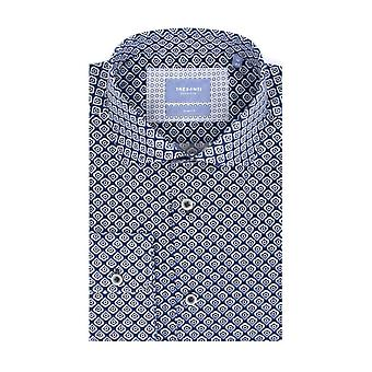 Tresanti Navy Retro Print Mens Shirt