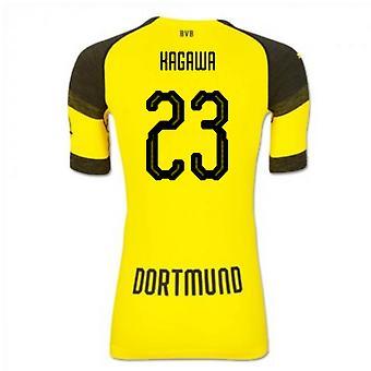 2018-2019 Borussia Dortmund Puma maillot de foot authentique maison EvoKNIT (Kagawa 23)