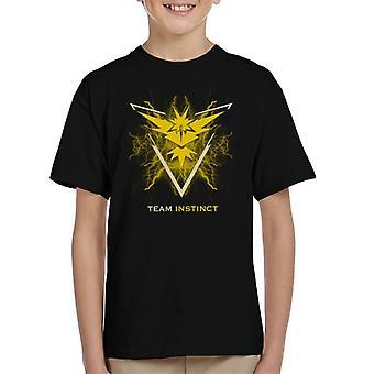 Pokemon Go Team Instinct Electric Logo Kid's T-Shirt