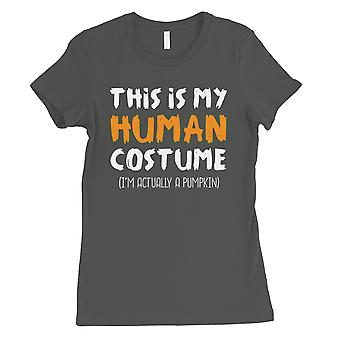 This Is My Human Costume Womens Cool Grey T-Shirt