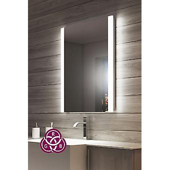 RGB Double Edge Bathroom Mirror with Shaver Socket k1114rgb