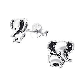 Elefante - 925 Sterling Silver pianura orecchini - W20524x