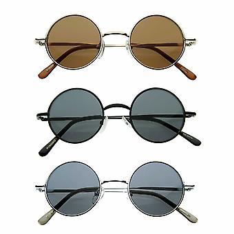 Metal Vintage Retro Round Artist Sunglasses