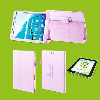 Für Apple iPad Pro 11.0 Zoll 2018 Hülle Cover Tasche Rosa Kunst Leder Case Neu + 0,4 mm Hart Glas