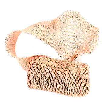 1 x Rose Gold Plated Copper 20mm x 1m Knitted Mesh Craft Wire Coil X1590