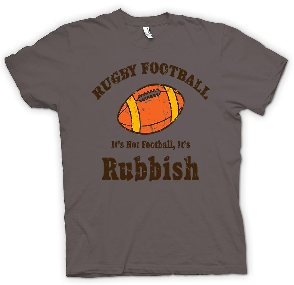 Womens T-shirt - Rugby Football vuilnis - grappige