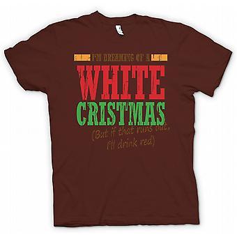 تي شيرت رجالي-إيم يحلم عيد الميلاد الأبيض--مضحك عيد الميلاد