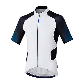 Shimano White Mirror Cool Short Sleeved Cycling Jersey