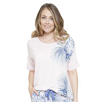 Isla rosa pijama impresión Floral Top Cyberjammies 4110 mujeres