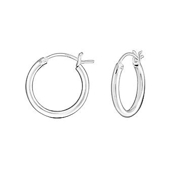 Hoop - 925 Sterling Silver Ear Hoops - W4033X