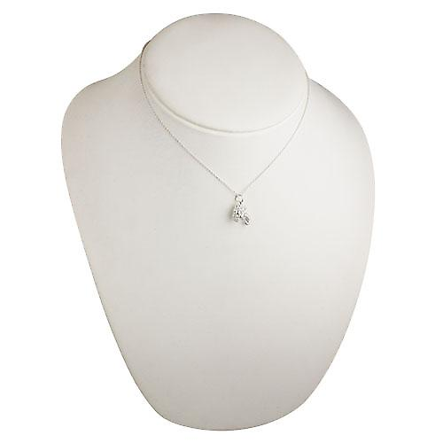 Silver 16x12mm solid Horn of Plenty Pendant with a rolo Chain 16 inches Only Suitable for Children