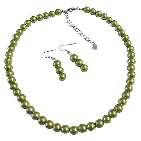 Shop Cheap Jewelry Inexpensive Wedding Pearls Pistachul Necklace Set