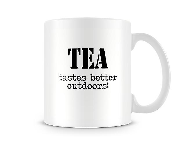 Tea Tastes Better Outdoors Mug