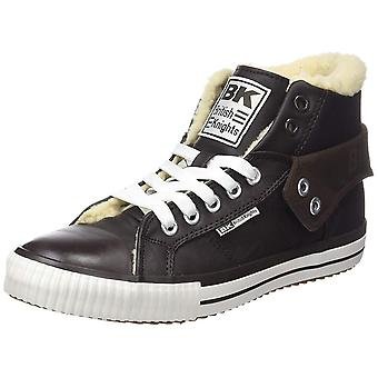 BRITISH KNIGHTS shoes lined men's high top sneaker boots Brown